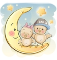 Two Cute Chiks vector image vector image