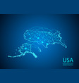 Usa map with nodes linked by lines concept of