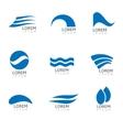 Water logo vector image vector image