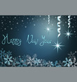 winter holiday background with snow and stars vector image