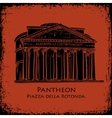 Black silhouette Pantheon hand drawn vector image