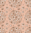 Engraved cherry blossom seamless pattern vector image