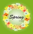 floral of spring background vector image