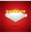 casino with lighting display vector image