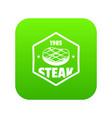 1985 steak icon green vector image