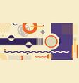 abstract purple orange yellow geometric pattern vector image