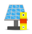 accumulation solar energy vector image vector image