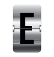 Alphabet silver flipboard letters e vector image vector image