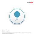balloon icon - white circle button vector image