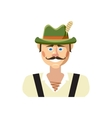 Bavarian man icon cartoon style vector image vector image