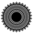 black lace doily isolated on white background vector image vector image