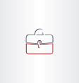 briefcase symbol stylized business logo vector image vector image