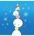 bright funny snowman vector image vector image
