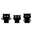 cat set funny kitten kitty giving a hug angry vector image vector image