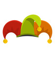 circus jester icon flat style vector image vector image
