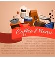 Coffee menu poster vector image vector image