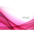 color abstract transparent wave design element vector image