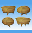 comic wood speech bubbles set vector image vector image