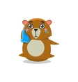 Crying Brown Bear vector image vector image