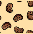 cute cartoon flat style potato seamless pattern vector image vector image