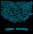 cyber monday sale background online shopping and vector image vector image