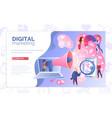 digital marketing service website template vector image vector image