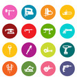 electric tools icons many colors set vector image vector image