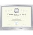Elegant certificate template for excellence vector image vector image
