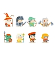 Fantasy RPG Game Character Icons Set vector image vector image