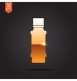 flat bottle vector image