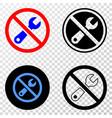 forbidden repair eps icon with contour vector image vector image