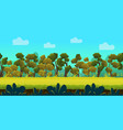 forest 2d game landscape for games mobile vector image vector image