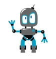 Funny cartoon robot vector image vector image