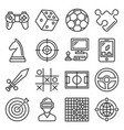 game and entertainment icons set on white vector image vector image