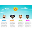 group of babies holding horizontal blank banner vector image