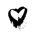 grunge heart valentine day print vector image vector image