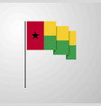 guinea bissau waving flag creative background vector image vector image