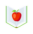 isometric icon book with apple vector image vector image