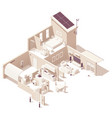 isometric smart home vector image vector image