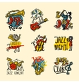 Jazz Labels Set vector image vector image