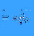 landing page for marketing strategy vector image vector image