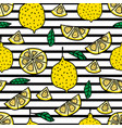 lemon seamless pattern background vector image vector image