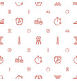 measurement icons pattern seamless white vector image vector image