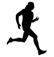 men athlete runner vector image vector image