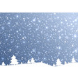 merry christmas of the nature snow falling from vector image vector image