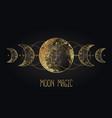 moon magic triple pagan wicca goddess vector image vector image