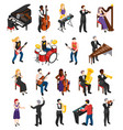 musicians isometric people vector image