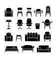 office hair armchair lounge comfortable sofa vector image