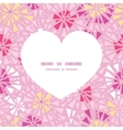 pink abstract triangles heart silhouette pattern vector image vector image