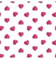 pink hearts pattern vector image vector image